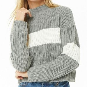 Colourblock Ribbed Sweater